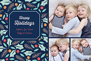 Christmas Cards Jolly holly (4 pages)