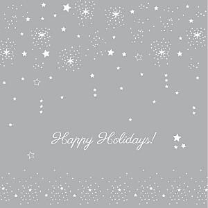 Christmas Cards Dainty stars grey