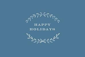 Christmas Cards Poem landscape blue