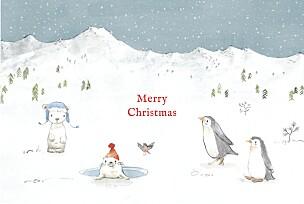 Lapland blue watercolour christmas cards