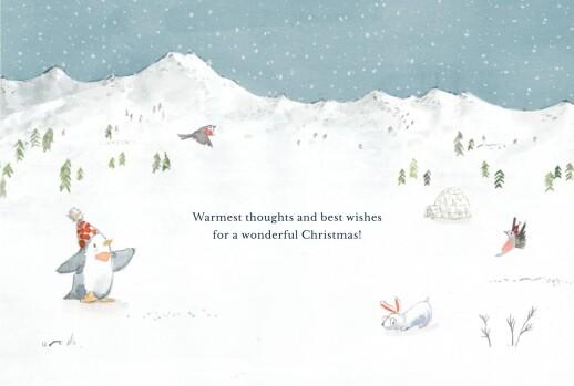 Christmas Cards Lapland blue