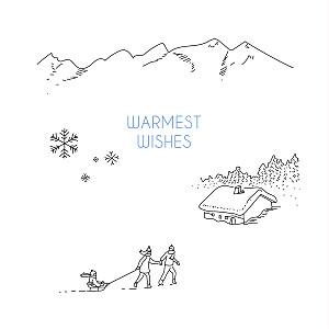 Winter promise white marion bizet christmas cards