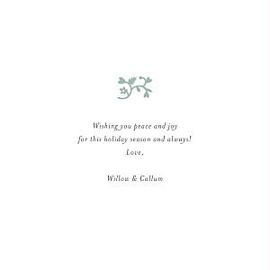 Christmas Cards Peace & joy (foil) green