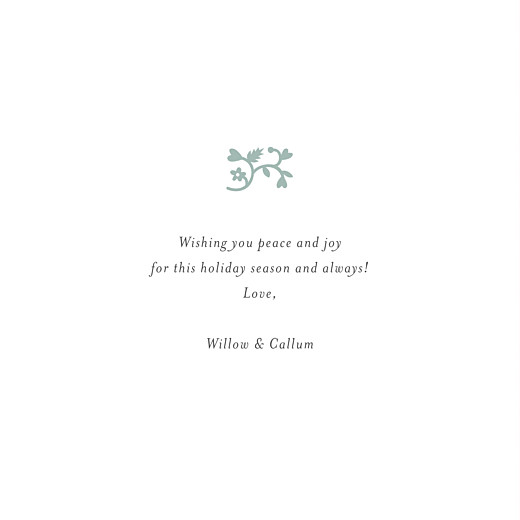 Christmas Cards Peace & joy (foil) green