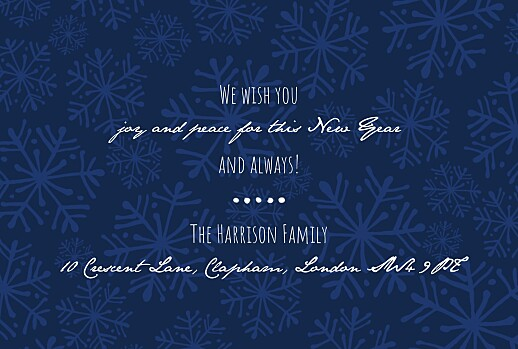 Christmas Cards Snow day (4 pages) white & blue - Page 3