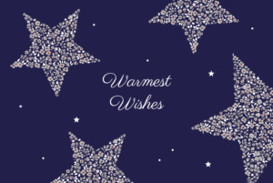 Christmas Cards Liberty stars midnight blue