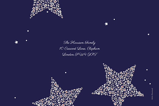 Christmas Cards Liberty stars midnight blue