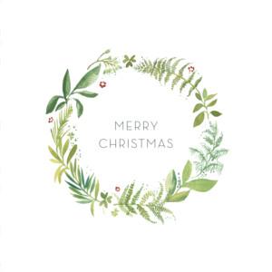 Christmas Cards Forest whisper green