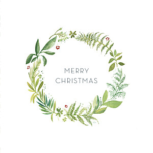 Forest whisper green green christmas cards