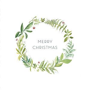Forest whisper green christmas cards