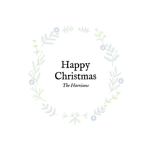 Christmas Cards Rustic christmas crown (foil) blue