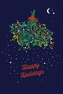 Under the mistletoe (4 pages) blue christmas cards