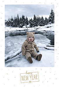 Winter confetti (4 pages) white marion bizet christmas cards