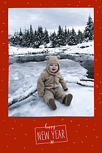 Christmas Cards Winter confetti (4 pages) red