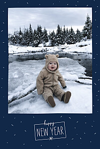 Christmas Cards Winter confetti (4 pages) navy blue