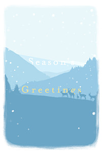Winter morning (4 pages) blue blue christmas cards