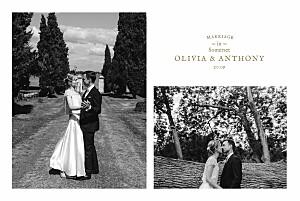 Wedding Thank You Cards Provence kraft