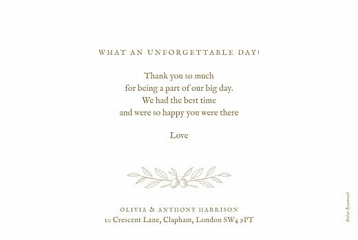 Wedding Thank You Cards Provence kraft - Page 2