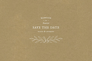 Provence kraft save the date cards