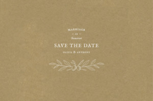 Save The Dates Provence kraft