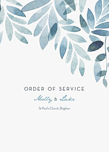 Summer night blue order of service booklets