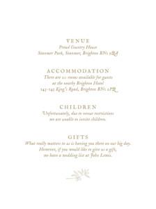 Guest Information Cards Provence kraft