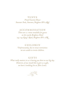 Guest Information Cards Provence kraft