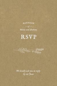 RSVP Cards Provence kraft