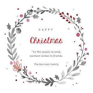 Christmas Cards Christmas crown (4 pages) white