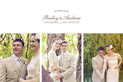 Wedding Thank You Cards Fern foray beige finition