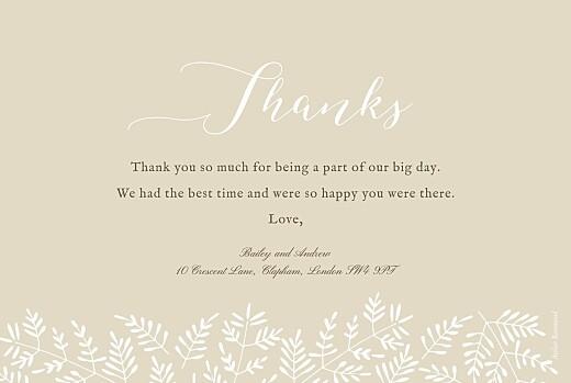 Wedding Thank You Cards Fern foray beige