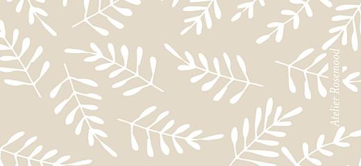 Wedding Gift Tags Fern foray beige