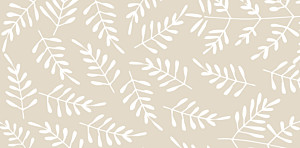 Place Cards Fern foray beige