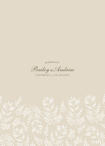 Order of Service Booklets Fern foray beige