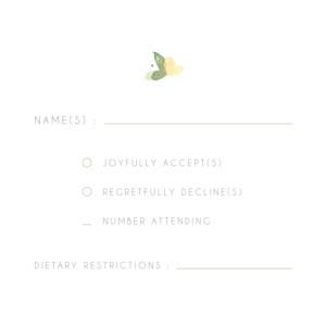 RSVP Cards English garden green