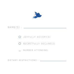 RSVP Cards English garden blue