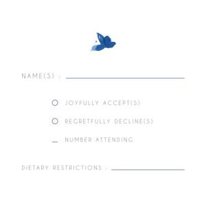 RSVP Cards English garden blue