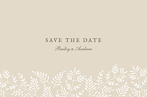 Save The Dates Fern foray beige