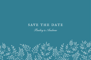 Save The Dates Fern foray blue