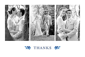 Wedding Thank You Cards English garden blue