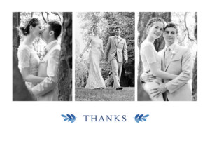Wedding Thank You Cards English garden blue