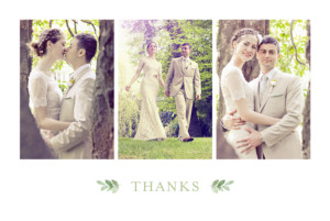 Wedding Thank You Cards English garden green