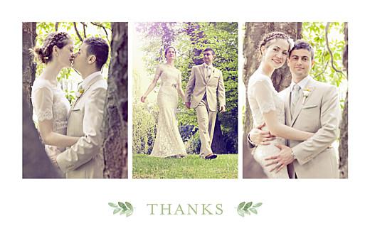 Wedding Thank You Cards English garden green