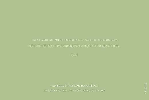 Wedding Thank You Cards English garden green - Page 2