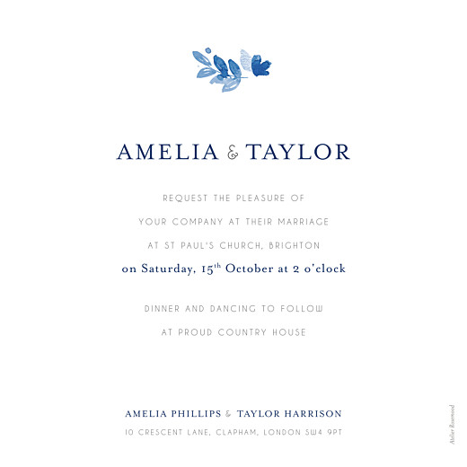 Wedding Invitations English garden blue - Page 2