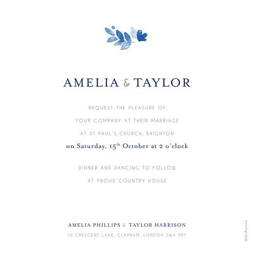 Wedding Invitations English garden blue