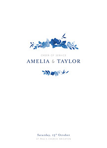 Order of Service Booklets English garden blue