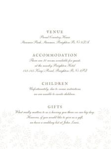 Guest Information Cards Fern foray beige