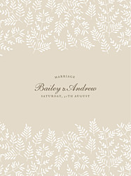 Guest Information Cards Fern foray beige