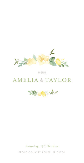 english garden wedding menus atelier rosemood